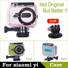 60m Waterproof Case For Xiaomi yi Case Xiaomi yi Waterproof Diving Case for Xiaomi yi Accessories Xiaoyi Camera Diving Protector(China (Mainland))