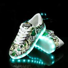 גודל 27-42 LED נעלי סניקרס הזוהר אור נעלי זוהר סניקרס עם זוהר בלעדי סל עבור בנים ובנות ילדים Feminino Tenis(China)