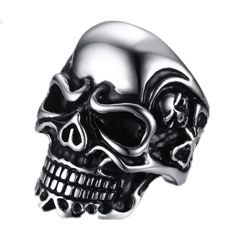 Punk 316L Stainless Steel Skull Men Rings Vintage Biker - Ilove Fashion Jewelry Store store
