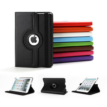 360 Rotation PU Leather case for Apple iPad Mini 1 2 3 Smart cover flip case with stand function for Pad Mini with Retina Fundas(China (Mainland))