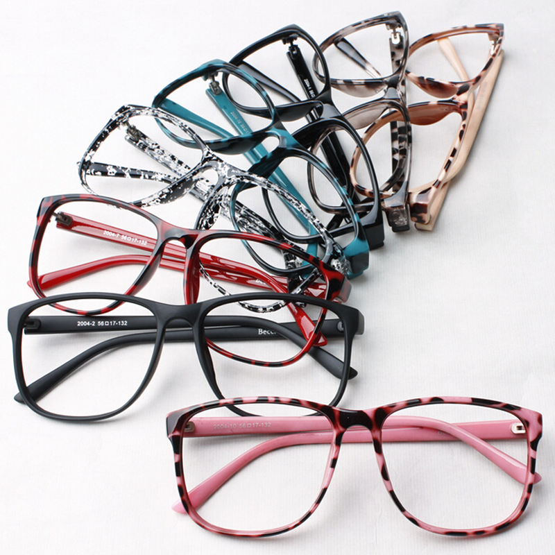 Glasses Without Frame On Top : Trendy Women leopard print glasses frame ultra light ...