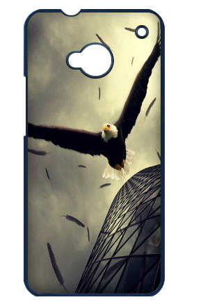 Free Shipping The wings of the eagle Best Protective Plastic Case Cover For HTC one M7(China (Mainland))