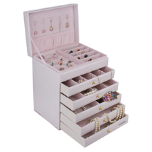 [ROWLING]Wholesale Extra Large Jewelry box Cabinet Armoire Bracelet Rings Beads Packaging Box ZG209(China (Mainland))
