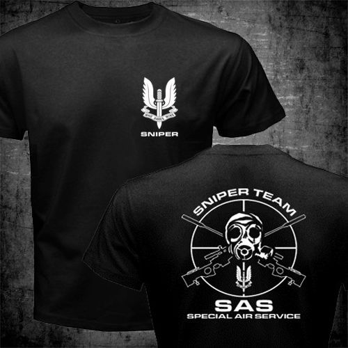 SAS Special Air Service British Army Special Forces Sniper T shirt Men's 100% Cotton Short Sleeve Summer T-Shirt Adlut Top Tee(China (Mainland))