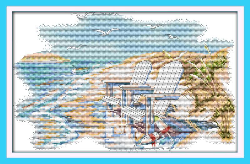 Ультра-тихий пляж DMC вышивка