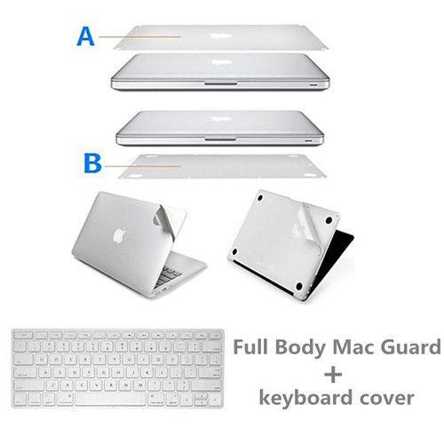 Full Body Laptop Decal Sticker and keyboard cover For Apple MacBook retina 13 15 Guard Case Bottom Cover Surface Protective Film(China (Mainland))