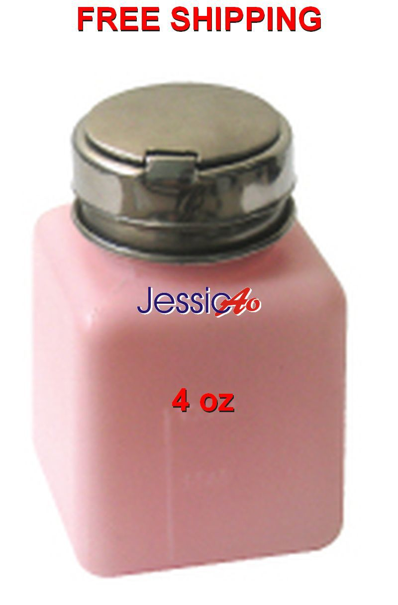 4oz Pink plastic bottle with metal cap Pumping Dispenser Cleaner Bottle Alcohol Liquid Press container box FREE SHIPPING(China (Mainland))