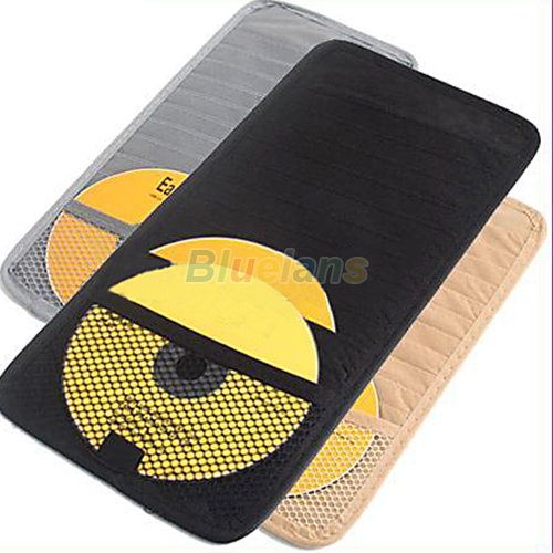 Car CD DVD Disk Card Visor Case Holder Clipper Bag 09D5(China (Mainland))