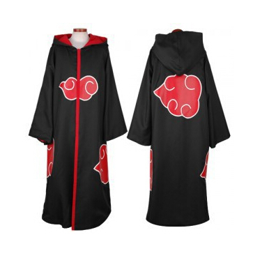 Free Shipping Hot Selling naruto cosplay costume Naruto Akatsuki Uchiha Itachi Cosplay Cloak Hooded Plus Size (S-2XL)(China (Mainland))