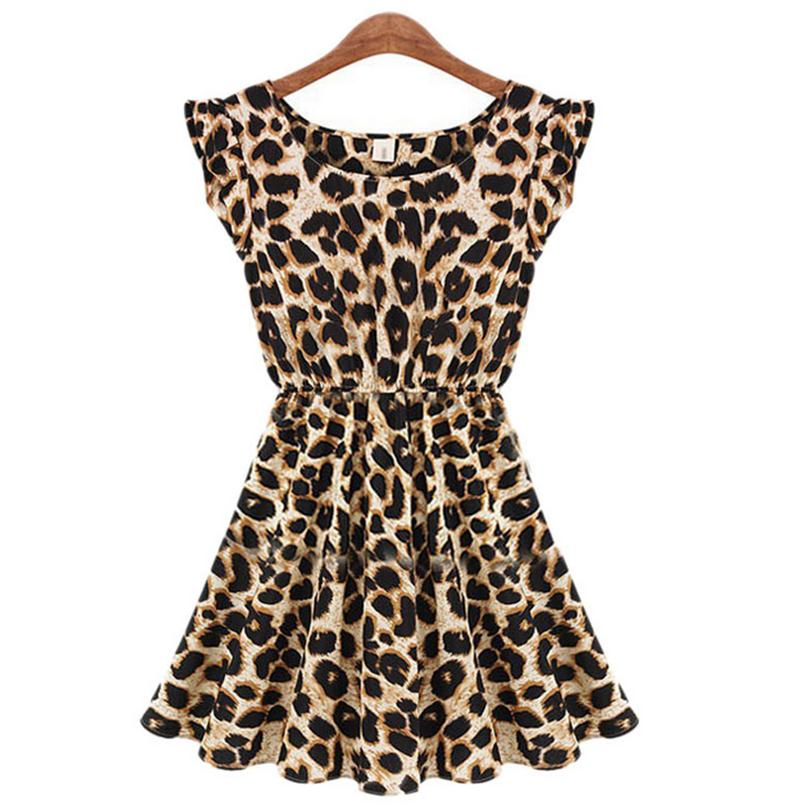 Summer Dresses Vestido Big Size Leopard Long Dress Print Slim Casual Robe Girl Club Sexy Vintage Vestidos Women Clothing S072Одежда и ак�е��уары<br><br><br>Aliexpress