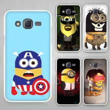 Buy minion cos Hard White Case Cover Samsung Galaxy J1 J2 J3 J5 J7 C5 C7 C9 E5 E7 2016 for $1.49 in AliExpress store