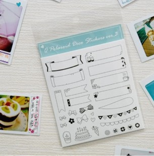 Korea Cute photo/diary stickers Decorative stickers child DIY toy 6sheets/set(China (Mainland))