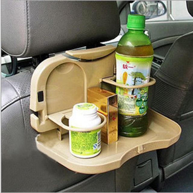 Unflattering car drink holder multifunctional folding chair back dining table food shelf laptop holder