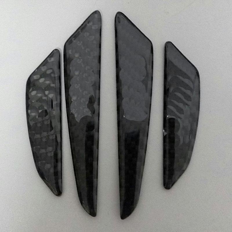 carbon fiber door border protector 3D decal only for mini cooper r52 R55 R56 R57 R58 R59 R60 R61 F55 f56 side scuttles stickers(China (Mainland))