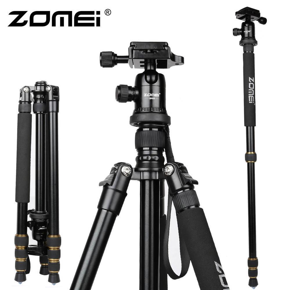 New Zomei Z688 Aluminum Professional Tripod Monopod + Ball Head For DSLR camera Portable / SLR Camera stand / Better than Q666(China (Mainland))