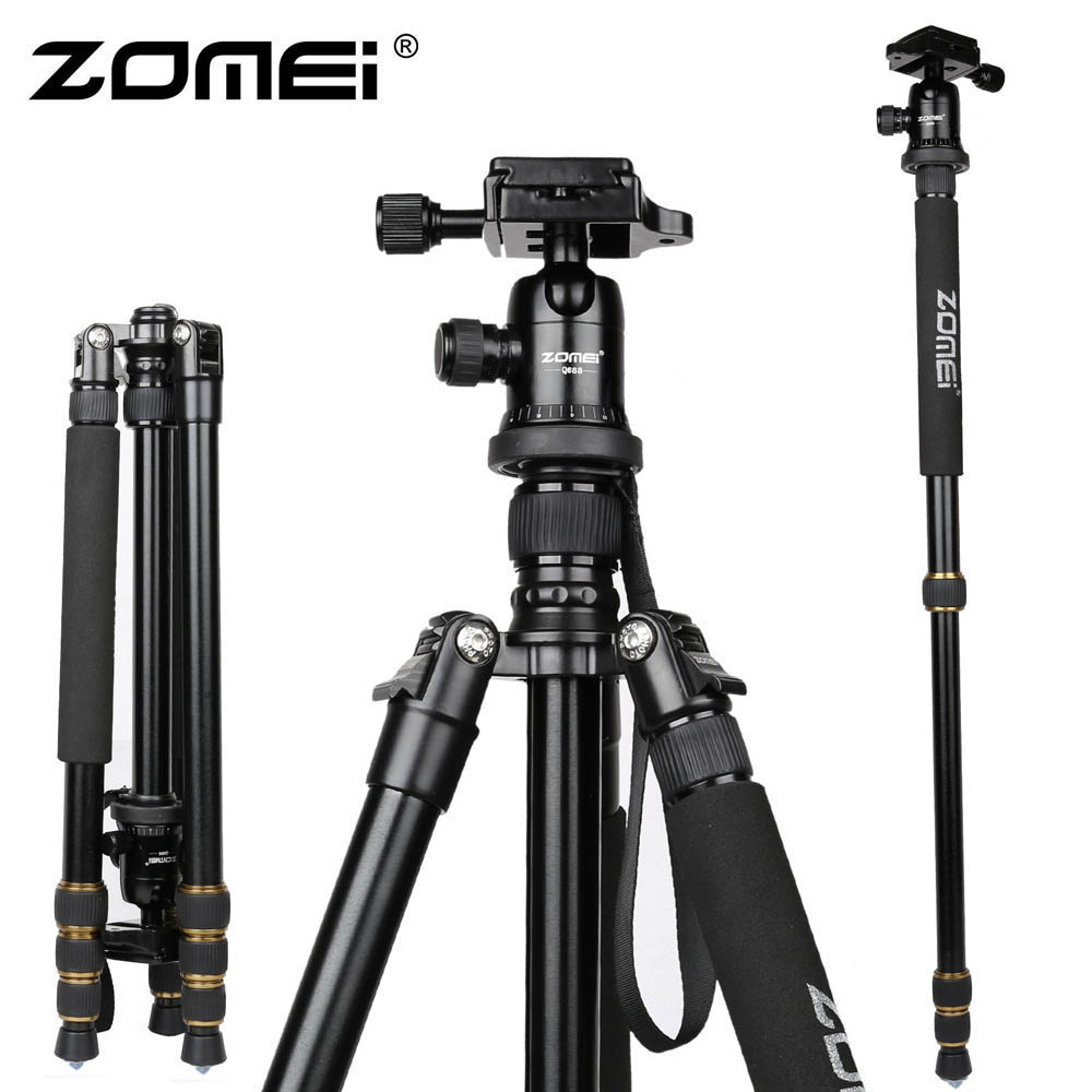 New Zomei Z688 Aluminum Professional Tripod Monopod + Ball Head For DSLR camera Portable / SLR Camera stand / Better than Q666(China (Mainland))