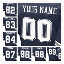 100% Stitched With Customized #82 Jason #83 Terrance #84 Jay #87 Geoff #88 Dez #88 Michael #89 Gavin Elite Navy Blue Jersey(China (Mainland))