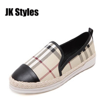 2016 New Arrival Brand Design Women Loafer Shoes Slip On 2cm Women Platform Flats Spring Summer Casual Shoes Woman Size 35-40(China (Mainland))