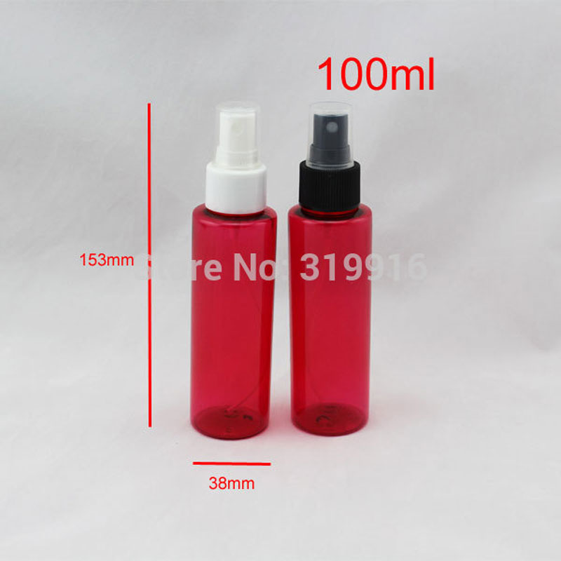 100ml red perfume and fragrance plastic atomizer pump bottle 100cc fine mist sprayer empty cosmetic bottle,perfumer spray bottle(China (Mainland))