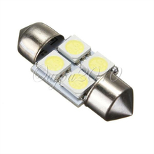 White 31mm 5050 SMD 4 LED Bulb DC12V Car Auto C5W Interior Dome  Reading Lights Lamp Festoon(China (Mainland))