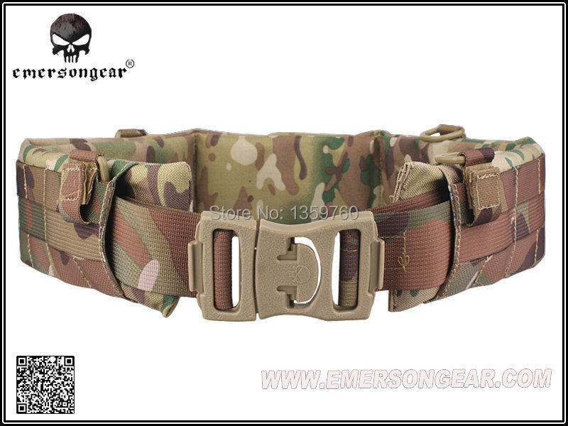 EMERSON MOLLE Padded Patrol Belt Men Airsoft Combat Military Army belt Multicam/AT-FG/ATACS EM9153/4/5free Shipping(China (Mainland))