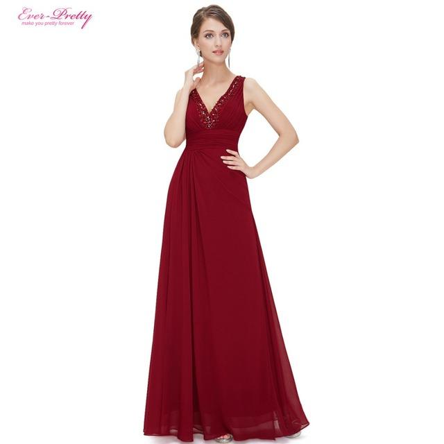 Длинный элегантный сексуальное официально вечерние платья с двойным v-образным вырезом ...