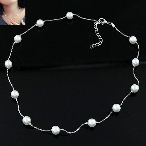 Brand Statement Choker Fashion Charms Boutique Concise Collar Sweet Pearl Chain Women Necklaces&Pendants Fine Jewelry A111 - Lemon Value Sale store