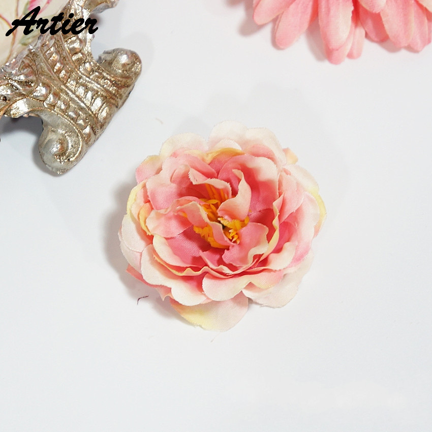 Factory direct simulated rose hand DIY artificial flower multi color optional wedding decoration AR1102(China (Mainland))