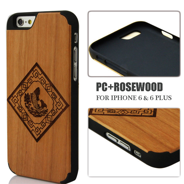 For iphone6 4.7 Wood Case with nice picture New Superb Quality Cell Phone Hard Wooden Cover Skin Casing For iphone6(China (Mainland))