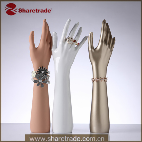 2015 Fashion Designer Promotion FRP Female Gloss Jewelry Ring Bracelet Stand Mannequin Display - Sharetrade (Xiamen store Import & Export Co., Ltd.)