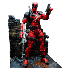 MS Super hero X-men Marvel Deadpool Action Figure Collection Model Toy with Deadpool Scene 7 inch doll doll Boxed Set Model