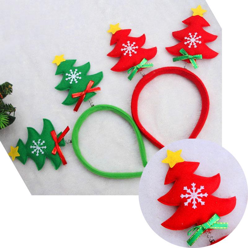 New Adult Kids Christmas Tree Novelty Headband Hat Party Costume Xmas Gift(China (Mainland))