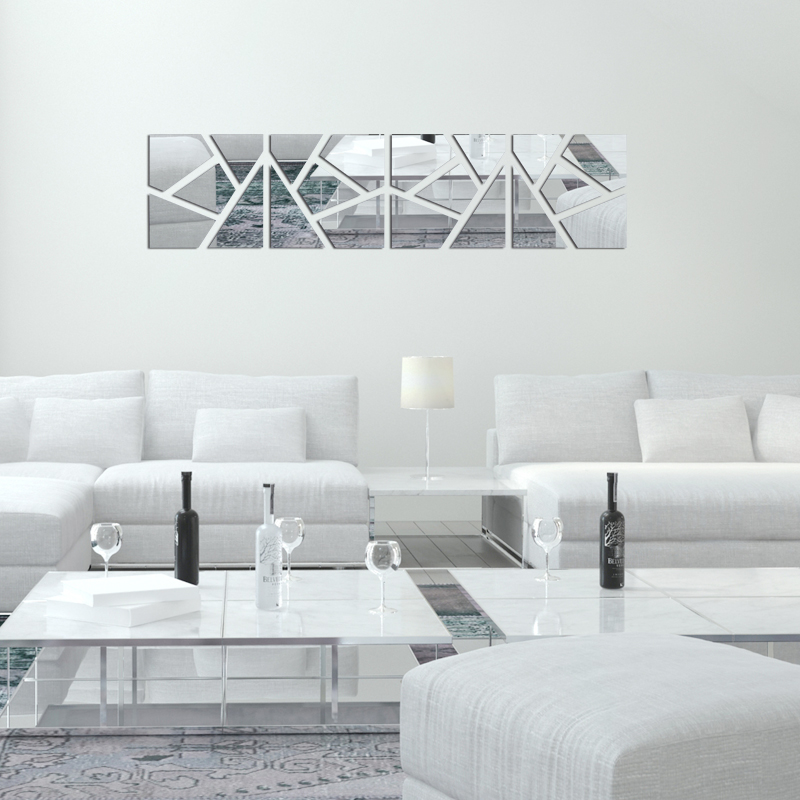 wall sticker square mirror wall stickers home decor living room