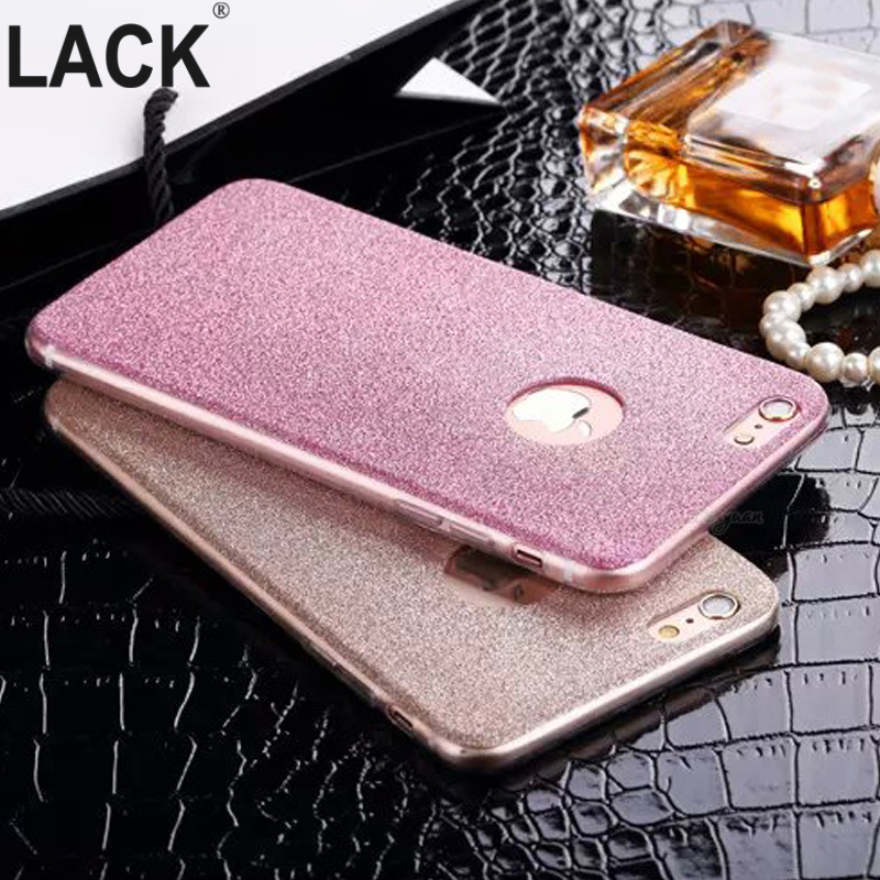 i6 6S UltraThin Glitter Bling Back Skin Cover iPhone Crystal Soft Gel TPU Case iPhone 6 6s 6Plus 6splus Phone Cases