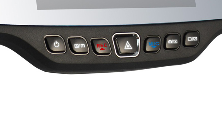 Автомобиль DVR зеркало двойное стекло HD 720 P 30FPS 4,3
