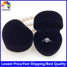 Free Shipping 24pcs/Lot 4.8x4.2x3.0cm Black Box For Rings Jewelry Boxes And Packaging Ring Boxes For Jewellery(China (Mainland))