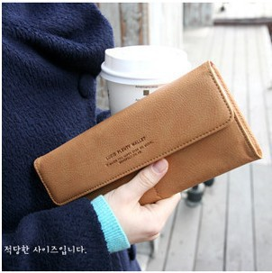 women's PU envelope clutch bag long leather Wallet Ladies designer Purse Checkbook Handbag drop shipping(China (Mainland))