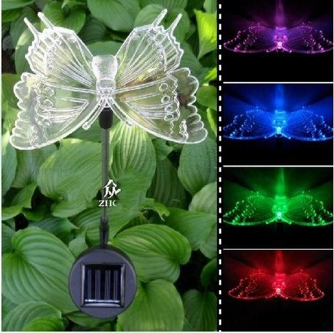 New Novelty Solar Colorful Butterfly Light Control Light Garden Ornaments Lawn Lamp<br><br>Aliexpress