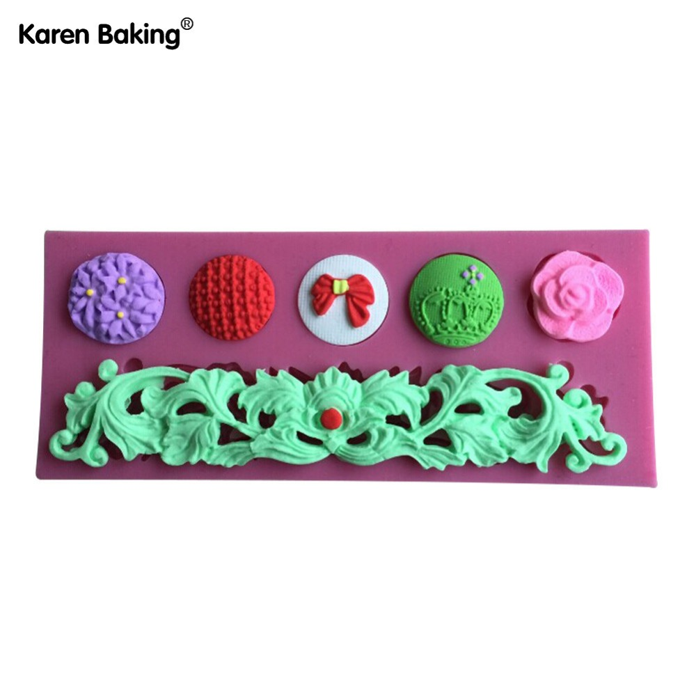 Beautiful Flower And Butterfly And Crown Shape Silicone 3D Mold , Cookware Dining Bar Non-Stick Cake Decorating Tools-C441(China (Mainland))