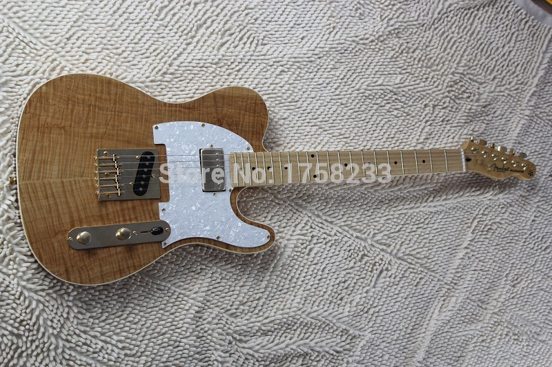 2019 wholesale new style telecaster guitar Ameican standard tele electric guitar with Golden yellow Golden accessories(China (Mainland))