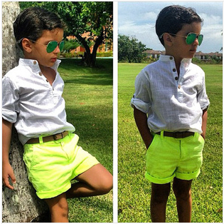 BCS030 Free shipping new arrival cotton boys clothing set summer baby 2 pcs suit cool shirt +pants kids fashion clothes retail(China (Mainland))