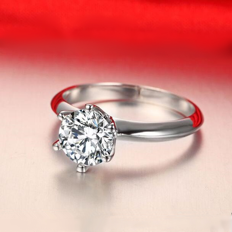 hot selling women 6mm cz diamond inlaid wedding rings bridal engagement party jewelry ring size 16 - Selling Wedding Ring