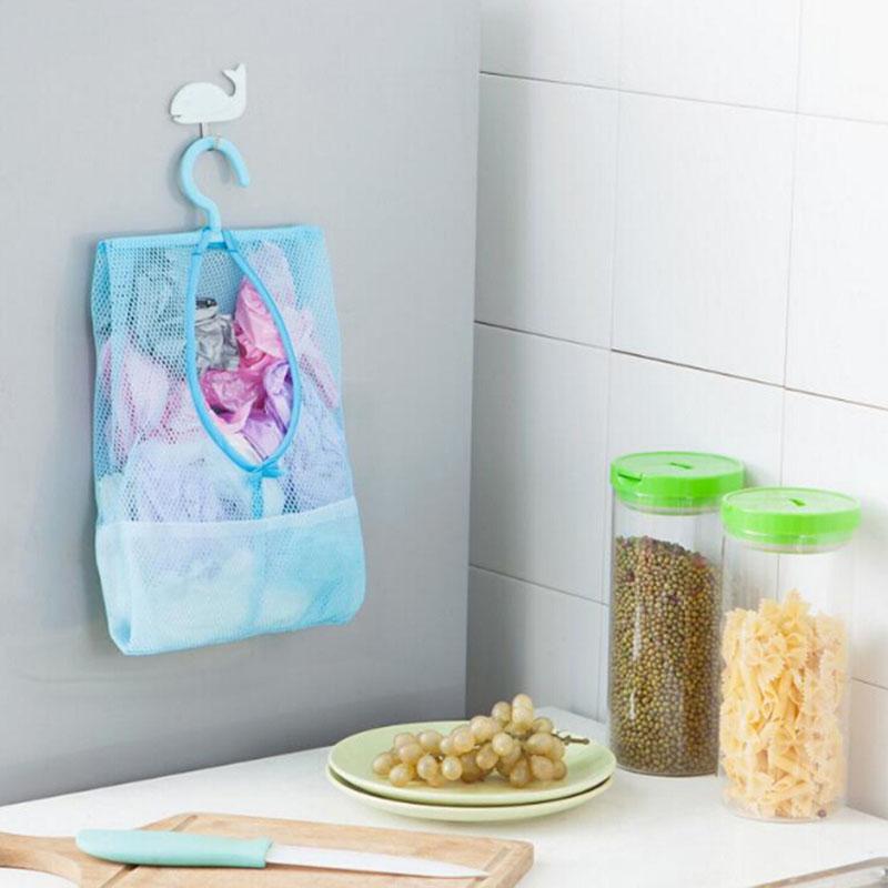 Bathroom Storage Clothespin Mesh Bag Hooks Hanging Bag Organizer Shower Bath