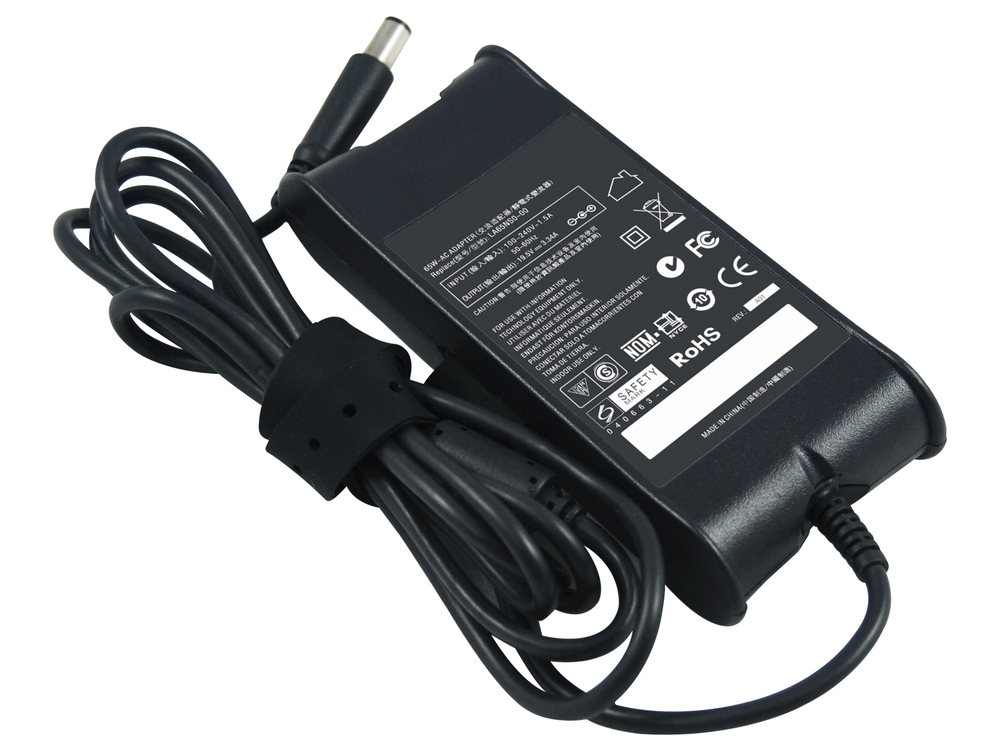 19.5 V DC 65-Watt Auto / Air AC Adapter with Power Cord for Select Dell Inspiron / Latitude / Studio / Vostro / XPS Laptops /(China (Mainland))