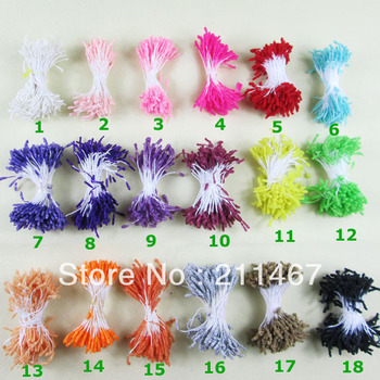 Free shipping DIY materials Artificial flowers stamens/Double heads crystal stamens 400pcs= 800heads/lot