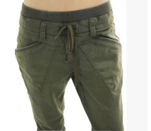 2014 spring women's harem pants loose casual sports trousers plus size pants