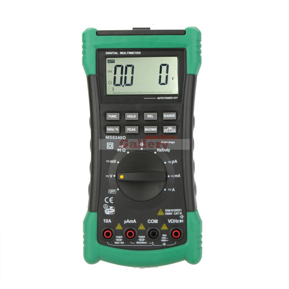 MASTECH MS8240D High Precision Auto Range Digital Multimeter DMM w/ Capacitance &amp; Frequency Test &amp; USB Interface Meter Testers<br><br>Aliexpress