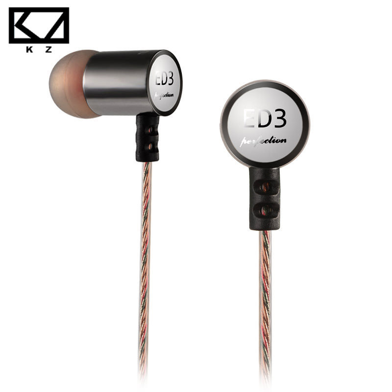 KZ ED3 Metal Micro Moving Coil Unit In Ear Stereo HiFi Music Earphone Headphones For Samsung Midrange Exquisite Female Vocals(China (Mainland))