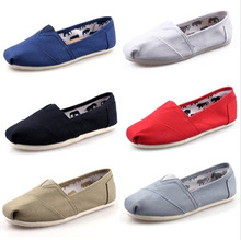 New style women and men canvas flat shoes fashion single shoes casual solid shoes women espadrille sneakers(China (Mainland))