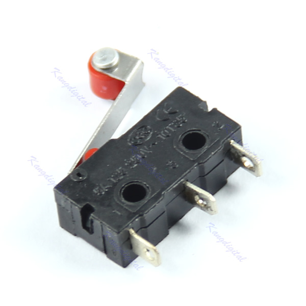 Free Shipping New KW12 3 Micro Roller Lever Arm Close Normally Open Limit Switch